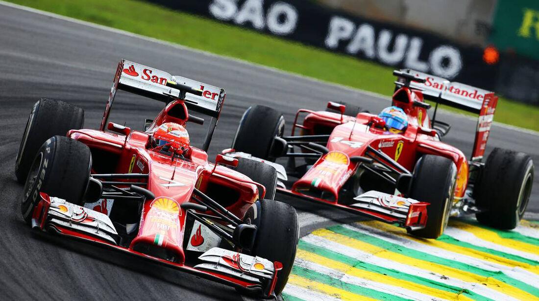 Kimi Räikkönen - Fernando Alonso - Formel 1 - GP Brasilien - 9. November 2014