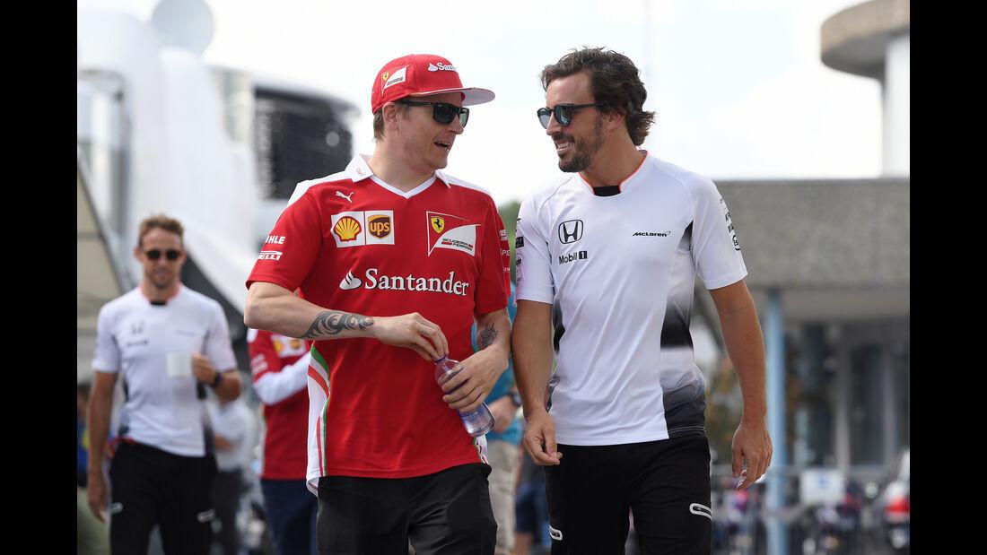 Kimi Räikkönen & Fernando Alonso - Formel 1 - GP Deutschland - 29. Juli 2016