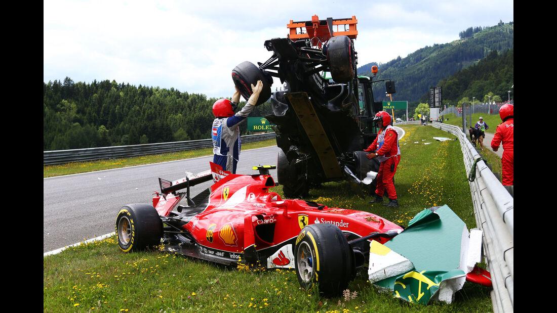 Kimi Räikkönen - Fernando Alonso - GP Österreich - Formel 1 - Sonntag - 21.6.2015