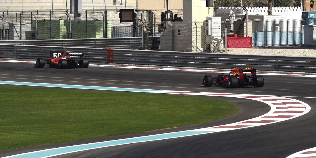 Kimi Räikkönen - Ferrari - Daniel Ricciardo - Red Bull - Pirelli-Test - Abu Dhabi
