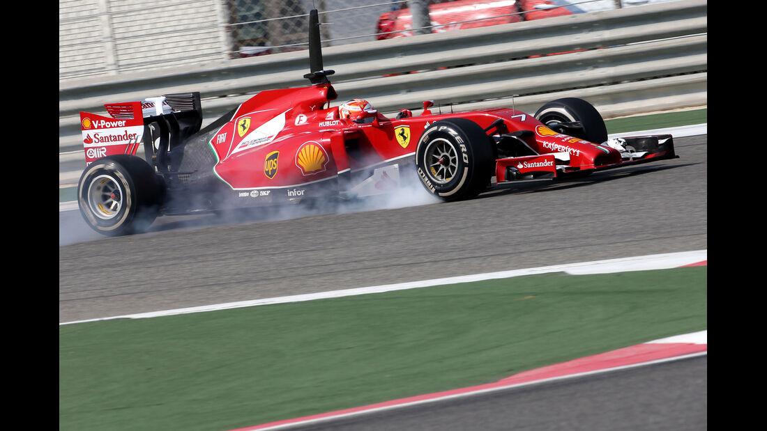 Kimi Räikkönen - Ferrari - Formel 1 - Bahrain-Test 2014