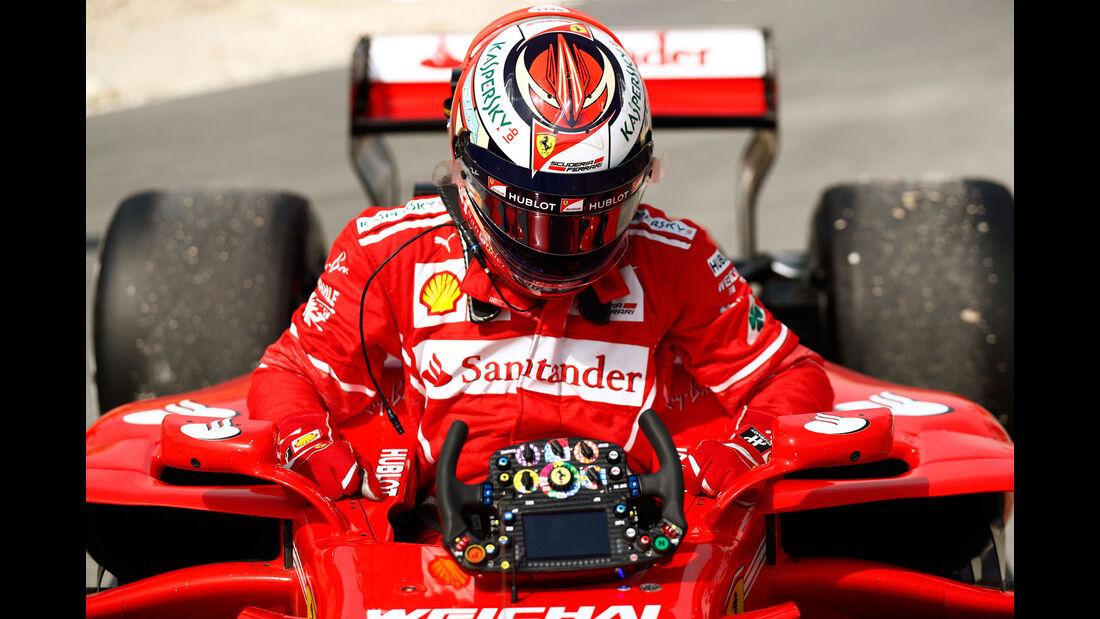 Kimi Räikkönen - Ferrari - Formel 1 - GP Bahrain - Sakhir - Training - Freitag - 14.4.2017
