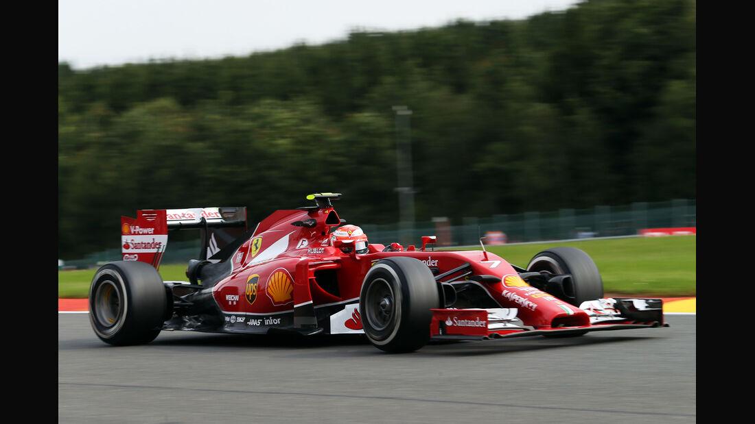 Kimi Räikkönen - Ferrari - Formel 1 - GP Belgien - Spa-Francorchamps - 22. August 2014