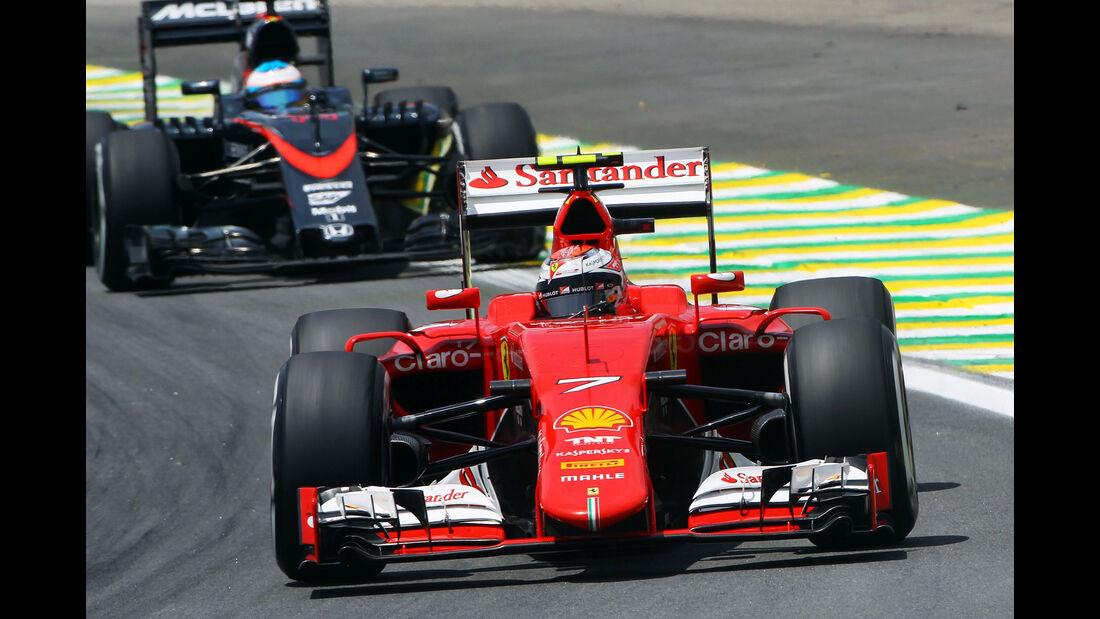 Kimi Räikkönen - Ferrari - Formel 1 - GP Brasilien- 14. November 2015
