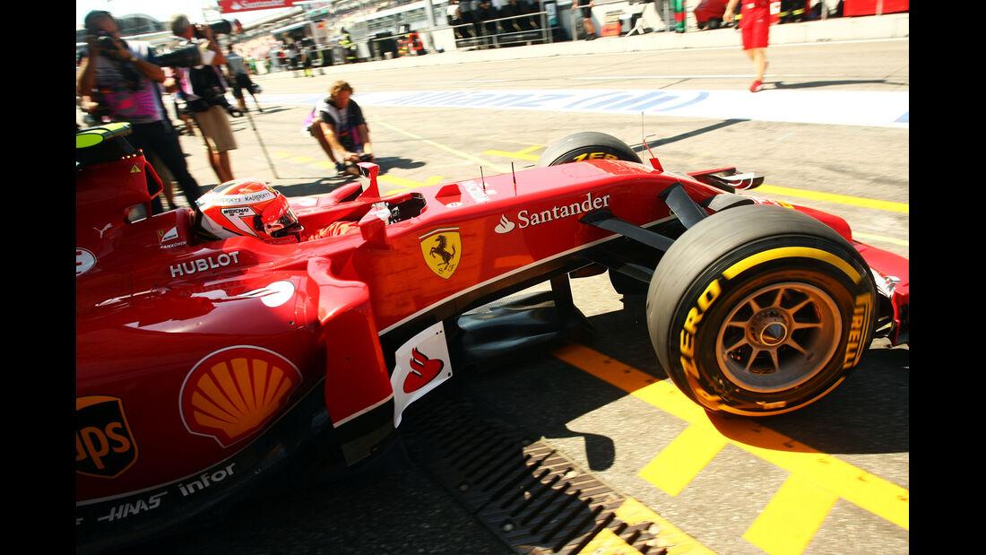 Kimi Räikkönen - Ferrari - Formel 1 - GP Deutschland - Hockenheim - 19. Juli 2014