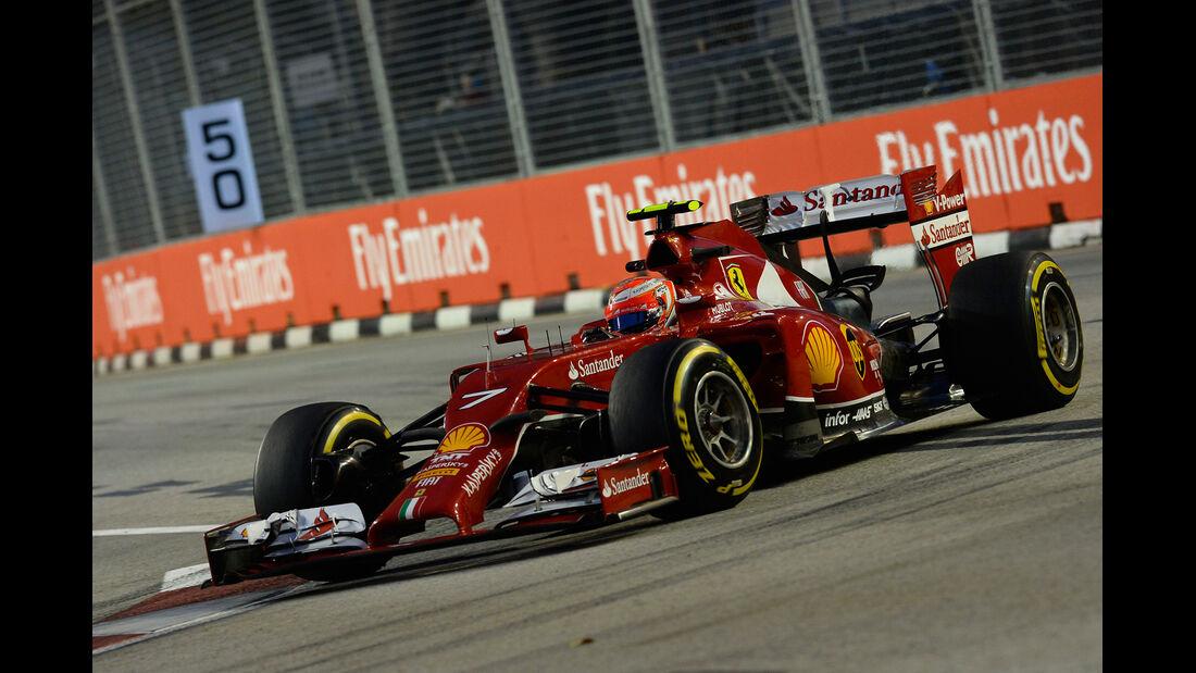 Kimi Räikkönen - Ferrari - Formel 1 - GP Singapur - 19. September 2014