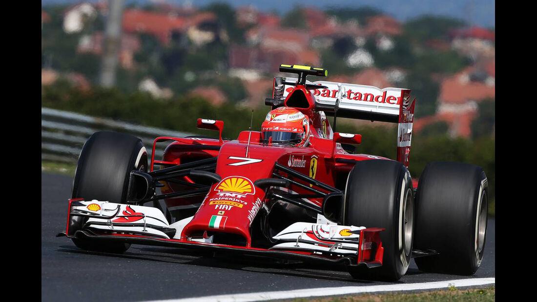Kimi Räikkönen - Ferrari - Formel 1 - GP Ungarn - 25. Juli 2014