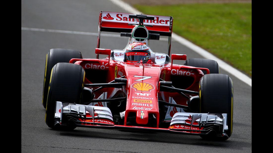 Kimi Räikkönen - Ferrari - Formel 1 - Silverstone-Test - 13. Juli 2016