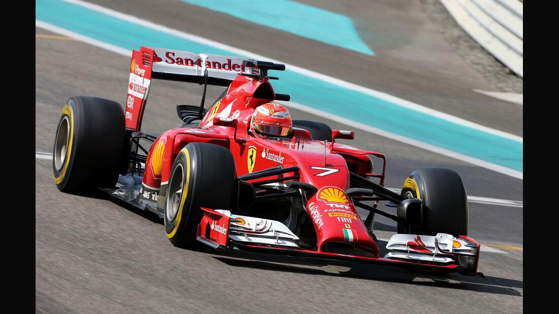 Kimi Räikkönen - Ferrari - Formel 1 Test - Abu Dhabi - 25. November 2014