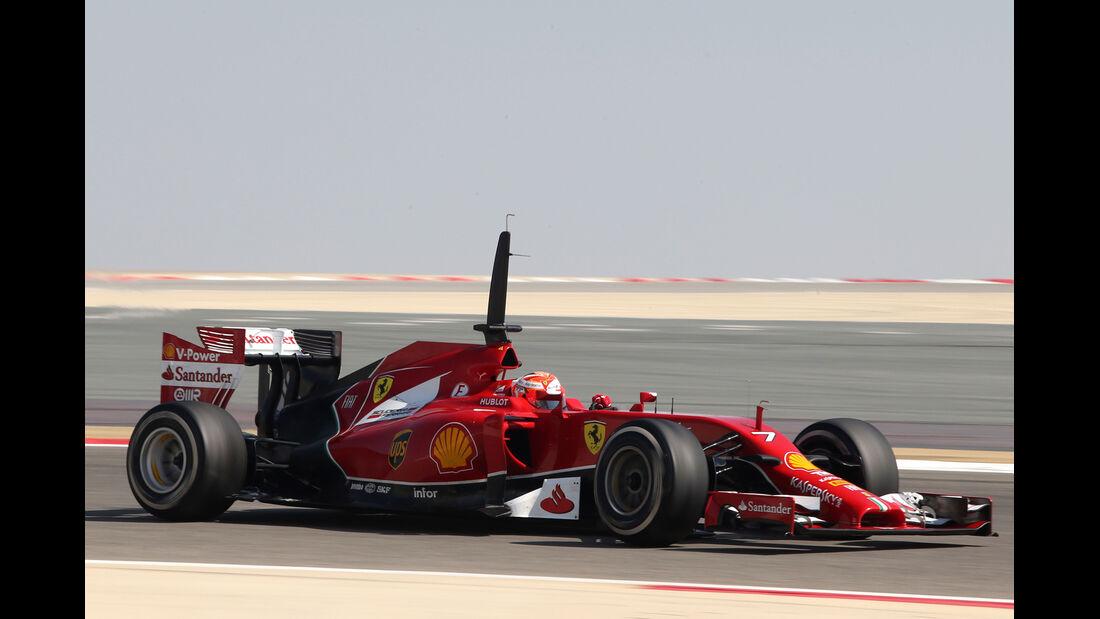 Kimi Räikkönen - Ferrari - Formel 1 - Test - Bahrain - 22. Februar 2014