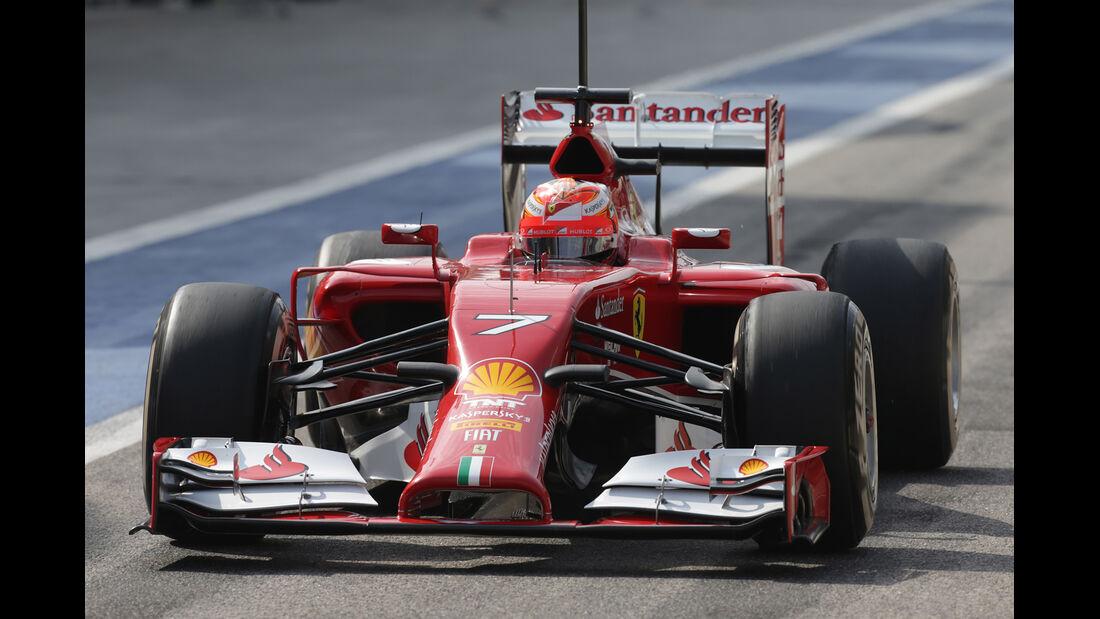 Kimi Räikkönen - Ferrari Formel 1 - Test - Bahrain - 27. Februar 2014