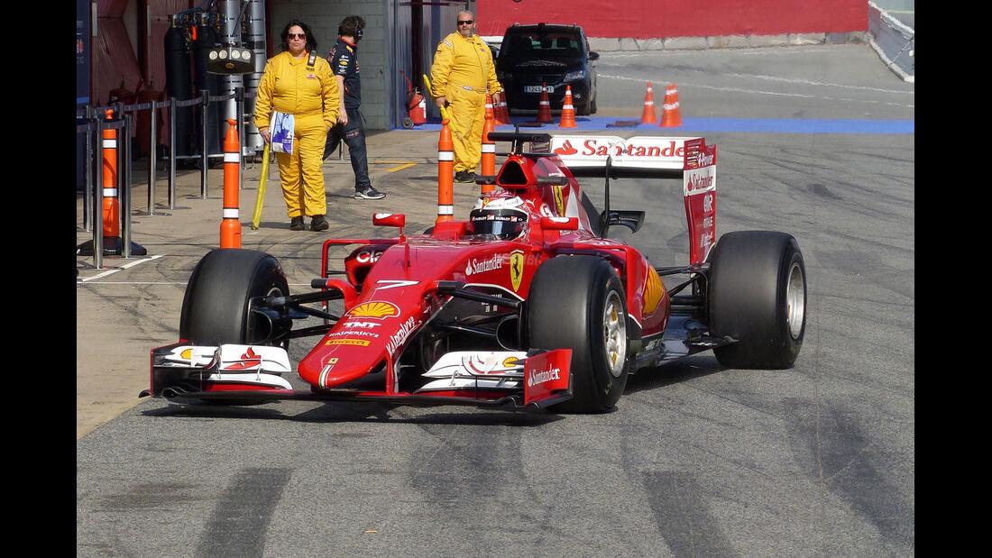 Kimi Räikkönen - Ferrari - Formel 1-Test - Barcelona - 19. Februar 2015