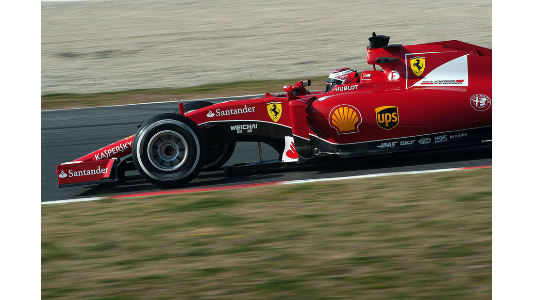 Kimi Räikkönen - Ferrari - Formel 1-Test - Barcelona - 20. Februar 2015