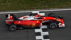 Kimi Räikkönen - Ferrari - Formel 1-Test - Barcelona - 24. Februar 2016