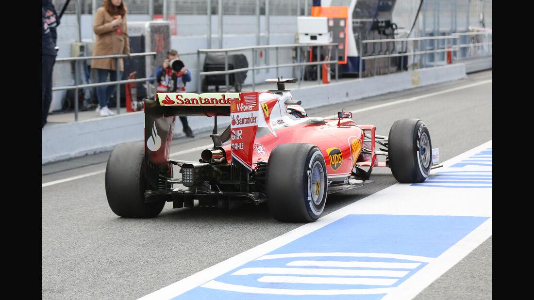 Kimi Räikkönen - Ferrari - Formel 1-Test - Barcelona - 25. Februar 2016