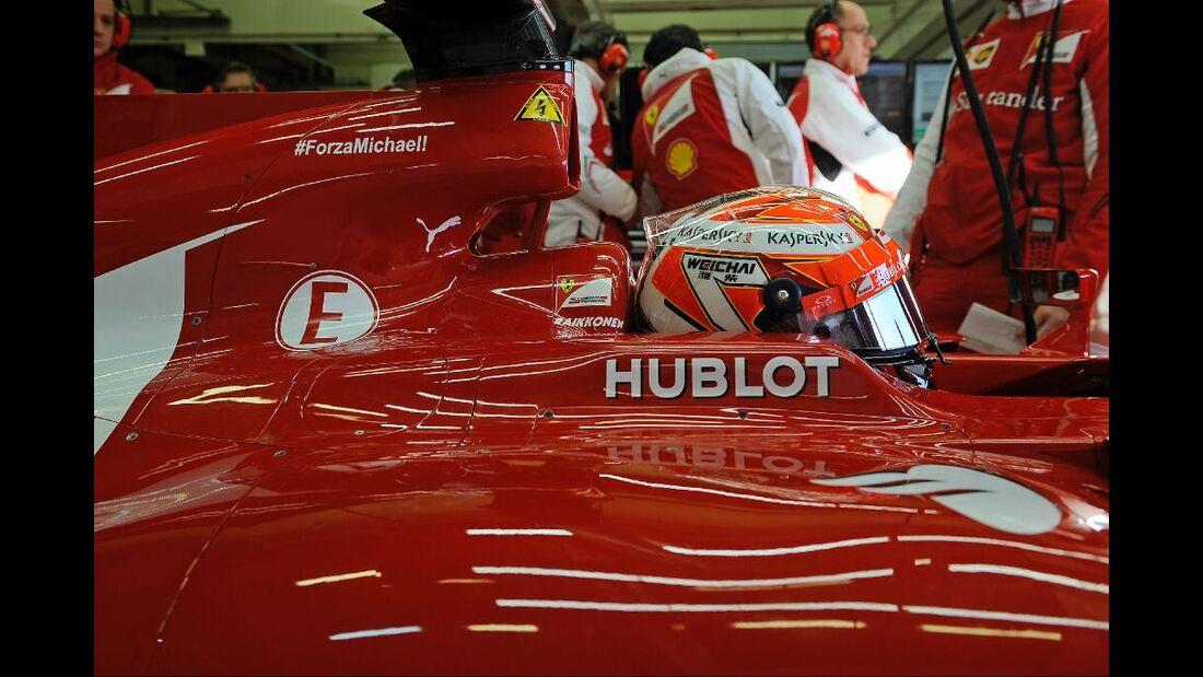 Kimi Räikkönen - Ferrari - Formel 1 - Test Jerez - 28. Januar 2014