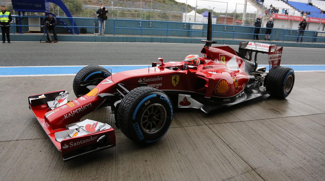 Kimi Räikkönen - Ferrari - Formel 1 - Test - Jerez - 29. Januar 2014
