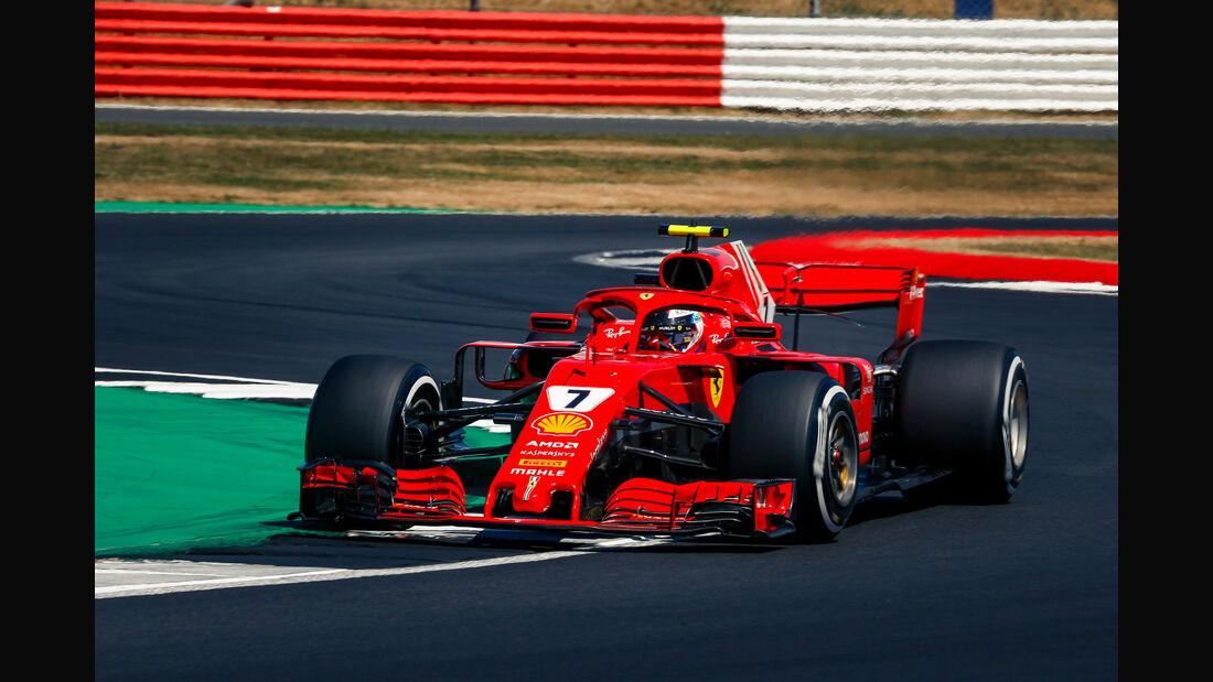 Kimi Räikkönen - Ferrari - GP England - Silverstone - Formel 1 - Samstag - 7.7.2018