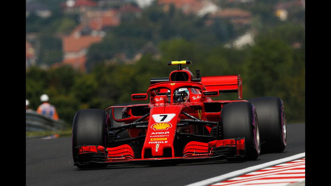 Kimi Räikkönen - Ferrari - GP Ungarn - Budapest - Formel 1 - Freitag - 27.7.2018