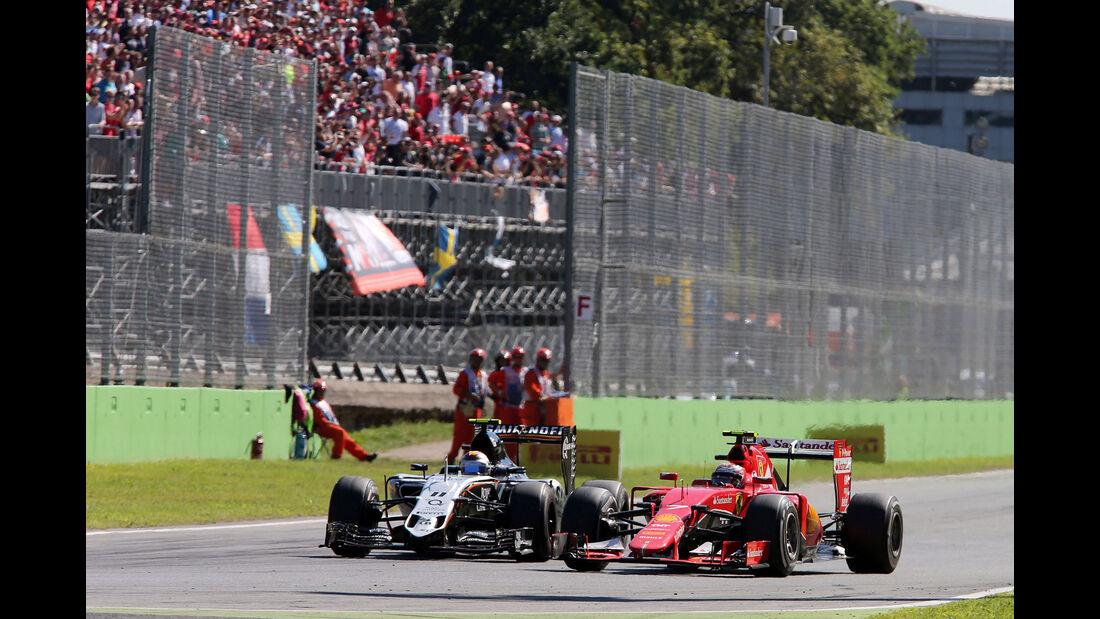 Kimi Räikkönen - Ferrari - Sergio Perez - Force India - GP Italien 2015 - Monza