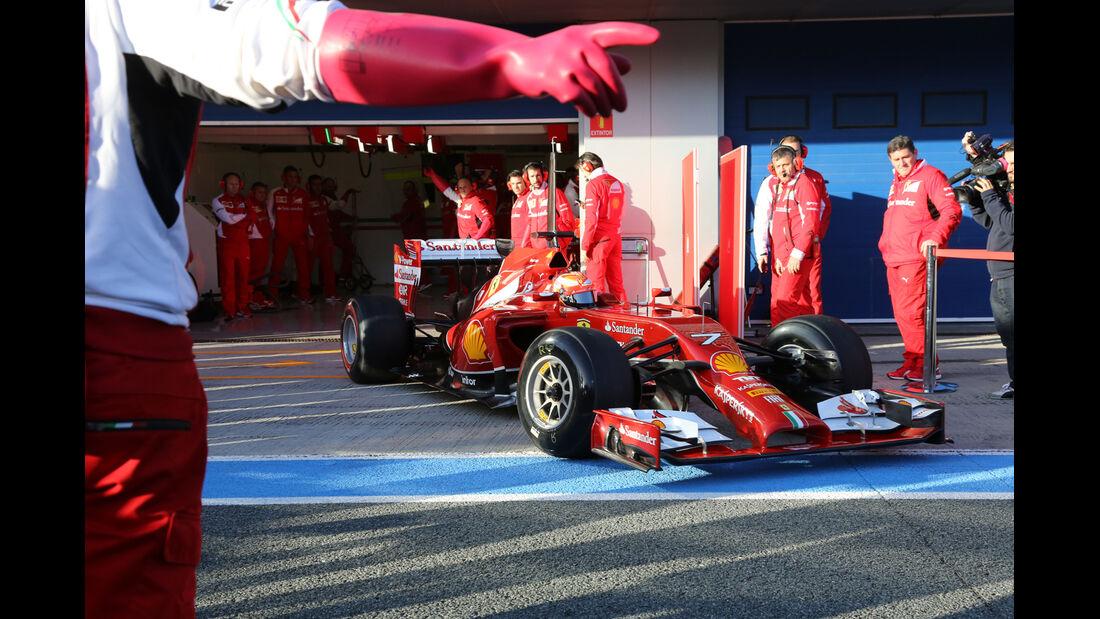 Kimi Räikkönen - Formel 1 - Jerez-Test 2014