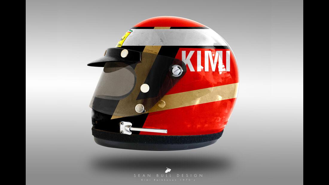 Kimi Räikkönen - Formel 1 - Retro-Helme - Sean Bull - 2018