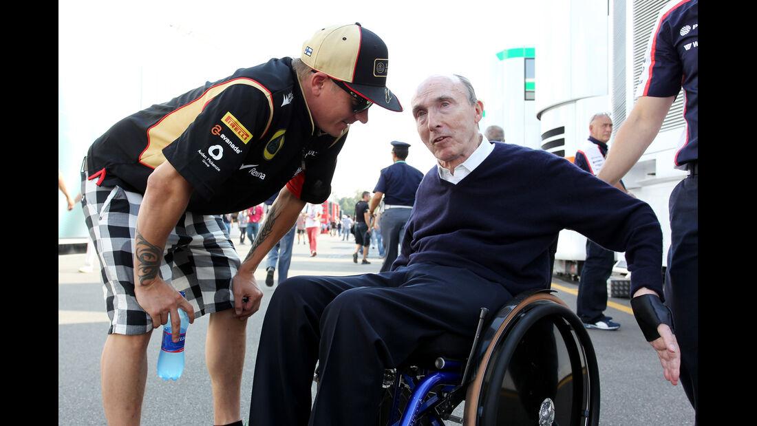 Kimi Räikkönen & Frank Williams - Formel 1 - GP Italien - 6. September 2013