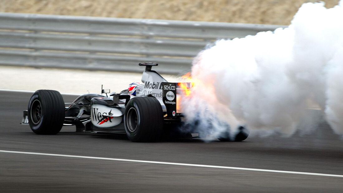 Kimi Räikkönen - GP Bahrain 2004 - Motorschaden