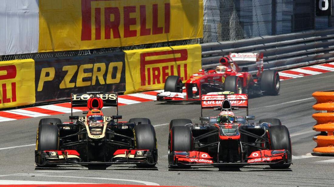 Kimi Räikkönen  Jenson Button - Formel 1 - GP Monaco - 26. Mai 2013