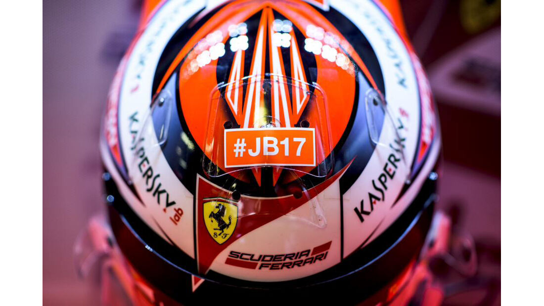 Kimi Räikkönen - Jules Bianchi-Aufkleber - GP Ungarn 2015
