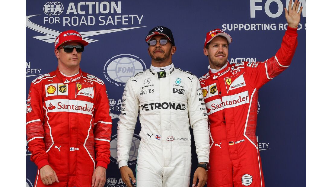Kimi Räikkönen - Lewis Hamilton - Sebastian Vettel - Formel 1 - GP England - 15. Juli 2017
