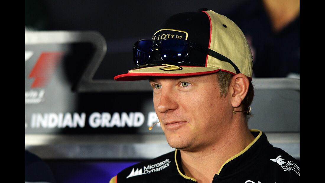 Kimi Räikkönen - Lotus - Formel 1 - GP Indien - Delhi - 24. Oktober 2013