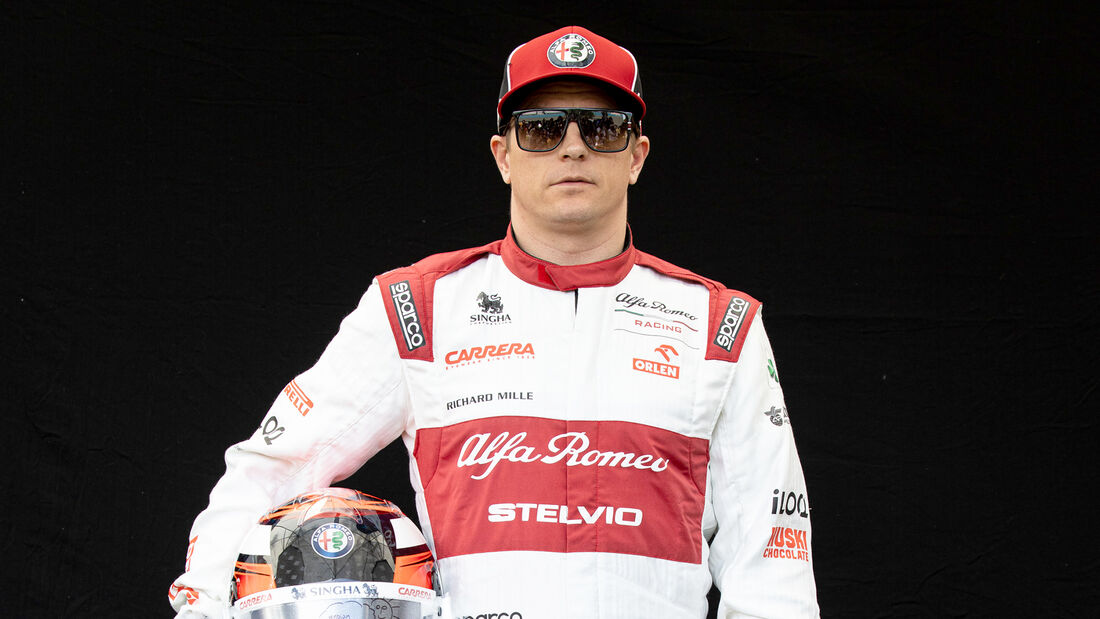Kimi Räikkönen - Porträt & Helm - Formel 1 - 2020