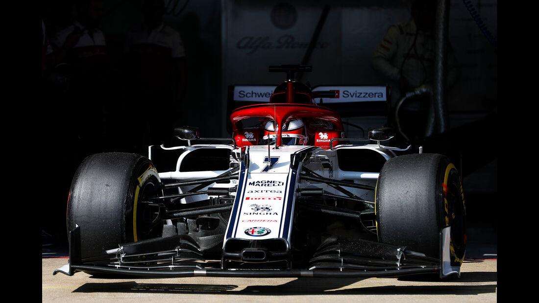 Kimi Räikkönen - Sauber - Barcelona - F1-Test - 01. März 2019