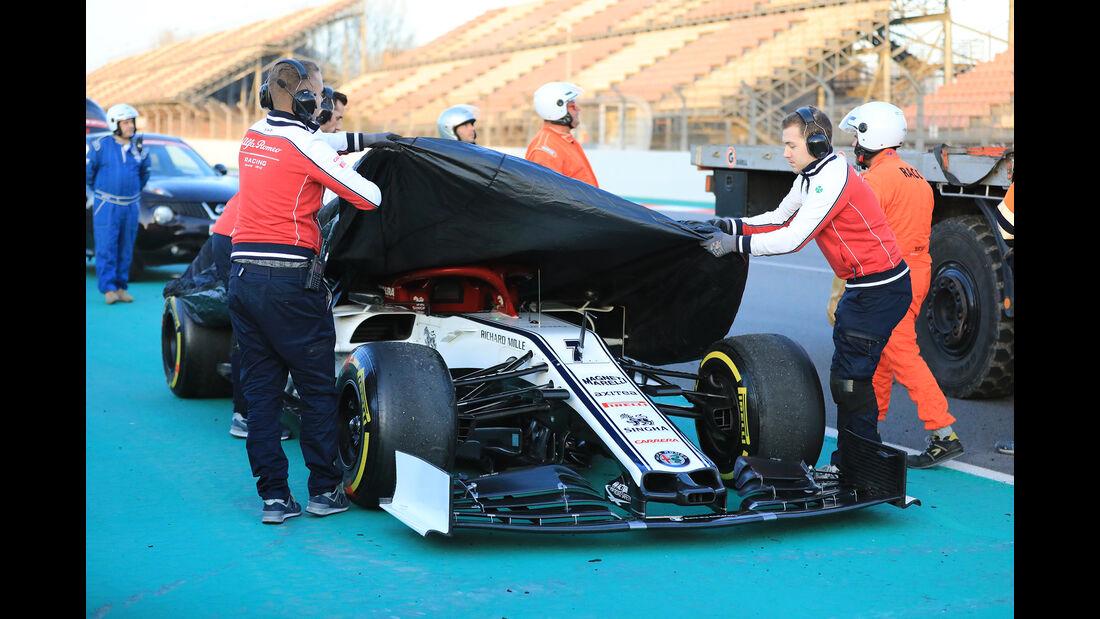 Kimi Räikkönen - Sauber - Barcelona - F1-Test - 18. Februar 2019