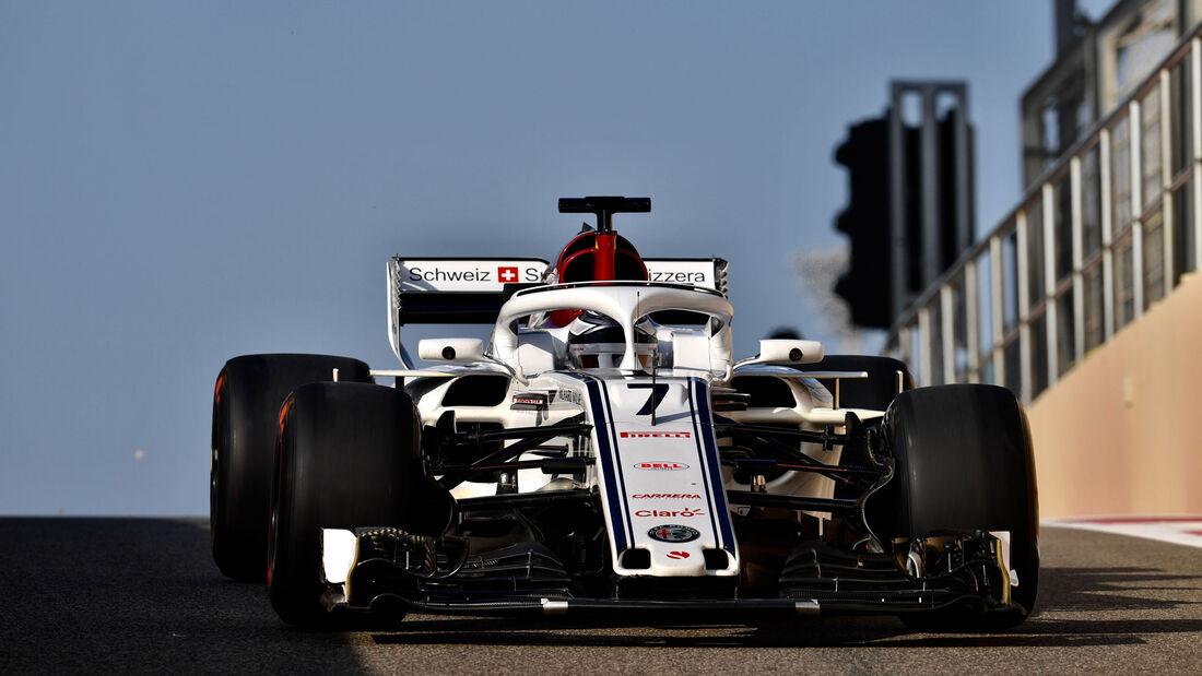 Kimi Räikkönen - Sauber - F1-Testfahrten - Abu Dhabi - 27.11.2018