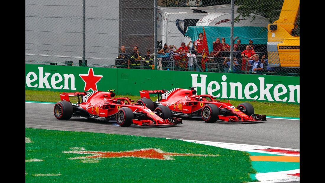 Kimi Räikkönen - Sebastian Vettel - Ferrari - Formel 1 - GP Italien - 02. September 2018