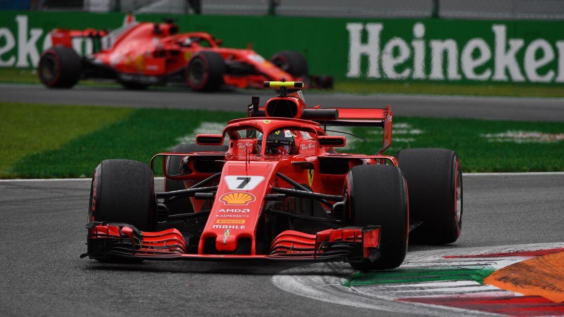 Kimi Räikkönen - Sebastian Vettel - Ferrari - Formel 1- GP Italien - 1. September 2018