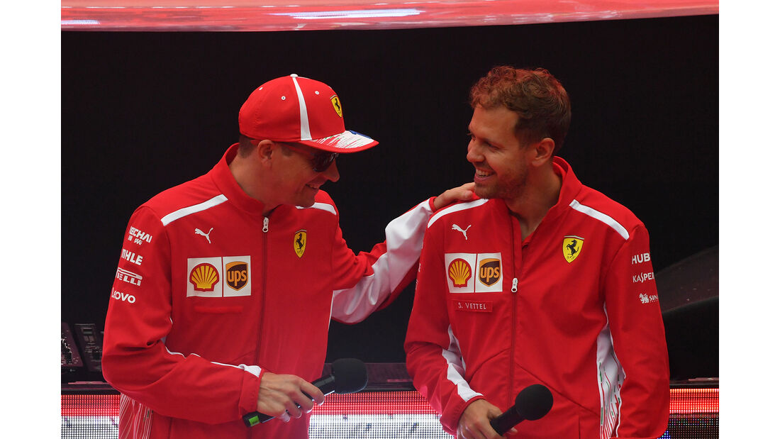 Kimi Räikkönen & Sebastian Vettel - Ferrari - Formel 1 - GP Spanien - Barcelona - 12. Mai 2018