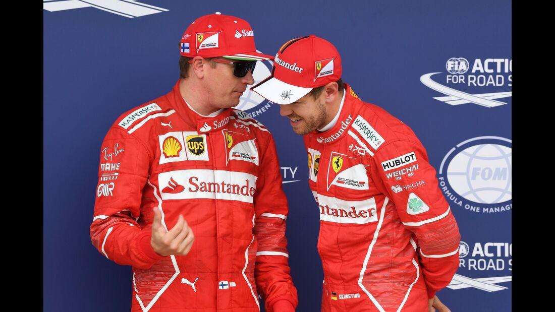 Kimi Räikkönen - Sebastian Vettel - Formel 1 - GP England - 15. Juli 2017