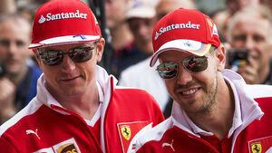 Kimi Räikkönen & Sebastian Vettel - GP England 2016