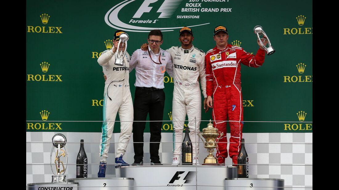 Kimi Räikkönen - Valtteri Bottas - Lewis Hamilton - Formel 1 - GP England - 16. Juli 2017