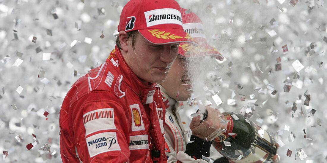 Kimi Räikönnen beim GP Brasilien 2007