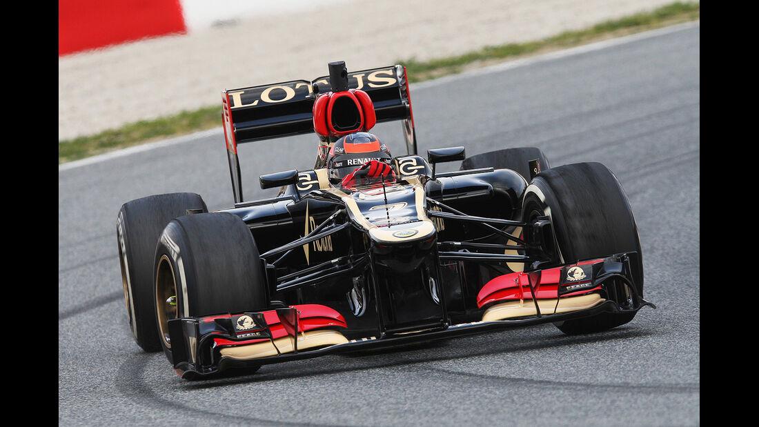 Kimi Raikkonen, Lotus Renault GP, Formel 1-Test, Barcelona, 19.2.2013
