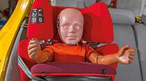 Kindersitz-Crashtest, Einbau