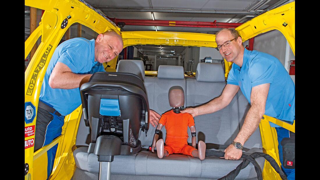 Kindersitz-Crashtest, So wurde getestet