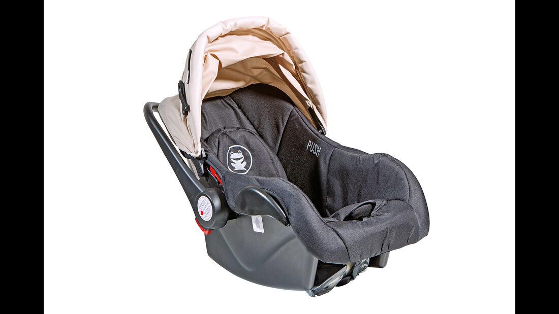 Kindersitz-Test 2014, Gruppe 0/0+, Babyschalen, Froggy Cocoon