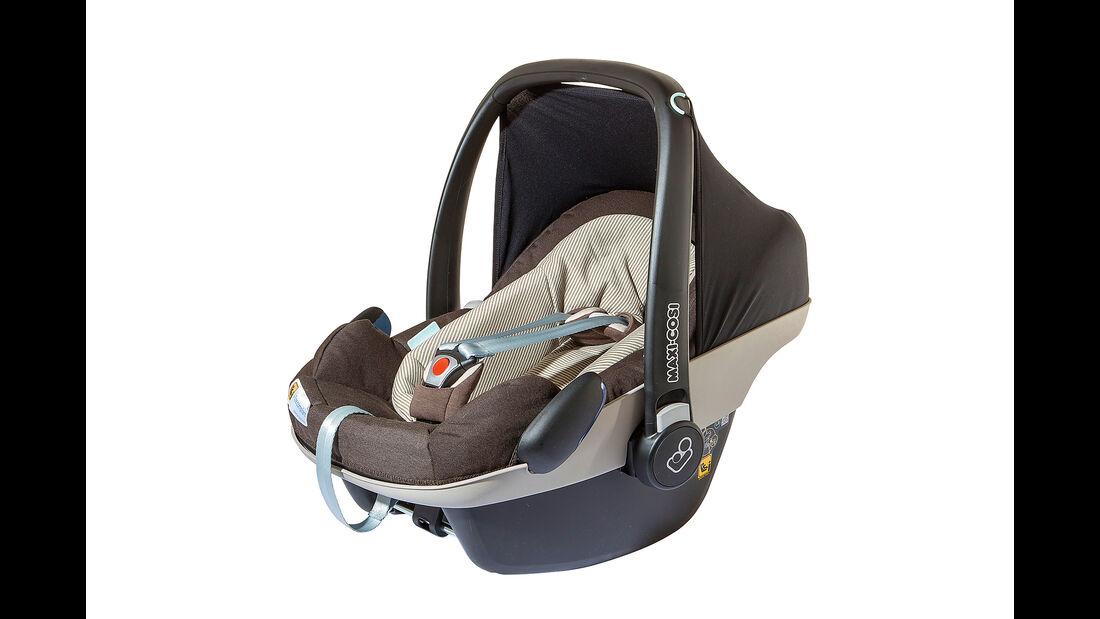 Kindersitz-Test 2015, Gruppe 0/0+, Babyschalen, Maxi Cosi Pebble Plus