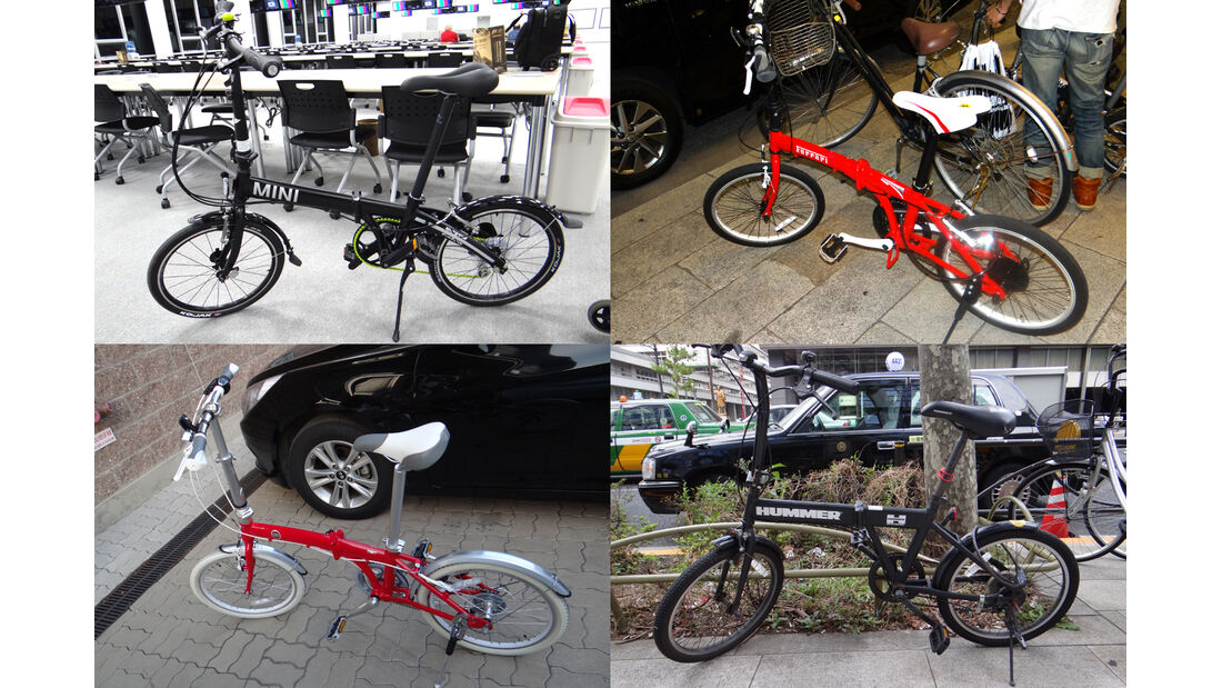 Klappräder von Autoherstellern 2012 Japan / Korea
