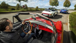 Klassische Porsche Cabriolets, Exterieur